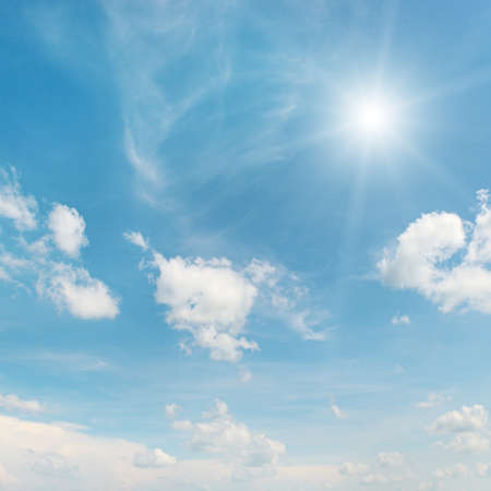 Photo for sun on blue sky                                     - Royalty Free Image