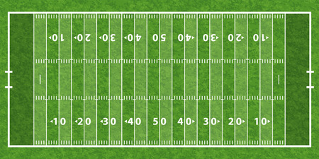 Illustration pour American Football Field with Line and Grass Texture, vector illustration - image libre de droit