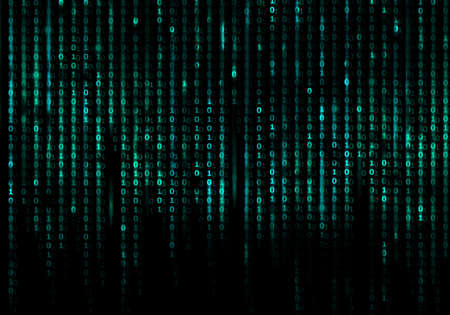 Photo pour Matrix code conceptual background - image libre de droit
