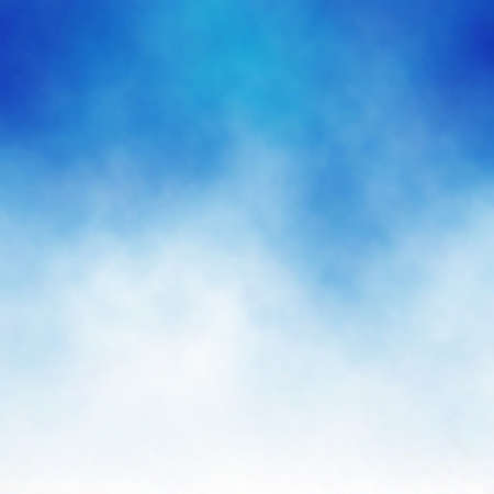 Illustration pour Editable vector background of white cloud detail in a blue sky made using a gradient mesh - image libre de droit