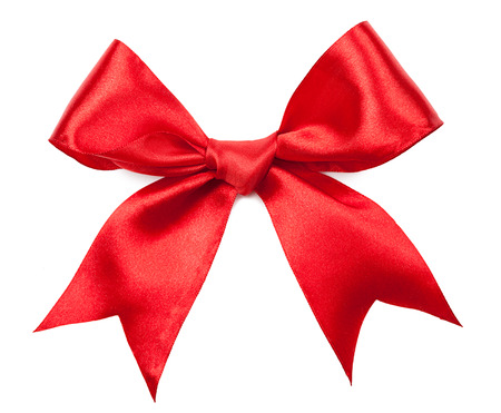 Photo pour Beautiful red bow isolated on white background - image libre de droit