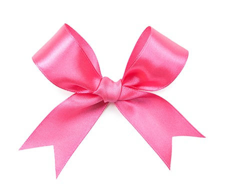 Photo pour pink color bow isolated on white background - image libre de droit