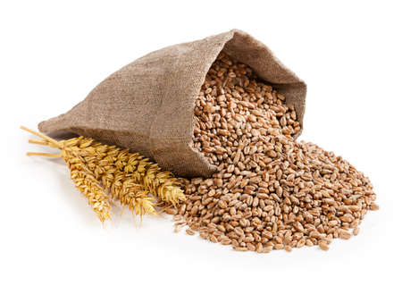Foto per Wheat in bag - Immagine Royalty Free