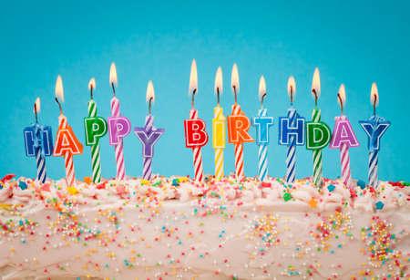 Photo pour happy birthday candles - image libre de droit