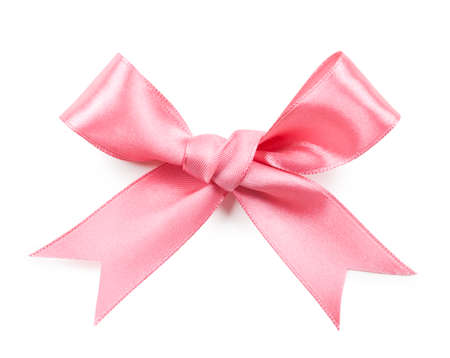 Photo pour Pink bow isolated on white background - image libre de droit