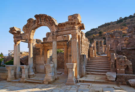 Photo for Ancient ruins in Ephesus Turkey - archeology background - Royalty Free Image
