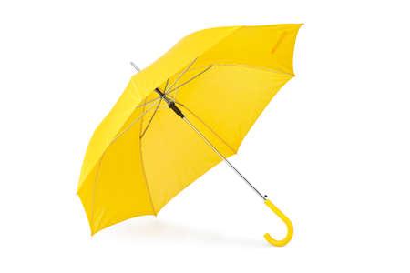 Foto de Opened umbrella isolated on white background - Imagen libre de derechos