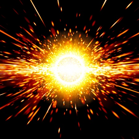 Abstract science background - big exploding in space, big bang theory