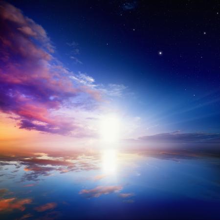 Photo pour Way to heaven, bright light from heaven door - image libre de droit