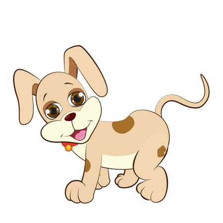 Ilustración de A lovely cartoon puppy - Imagen libre de derechos