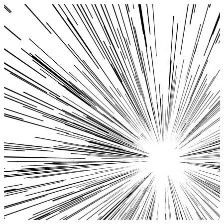 Illustration pour illustration vector abstract speed motion black lines ,with circle in the middle. - image libre de droit
