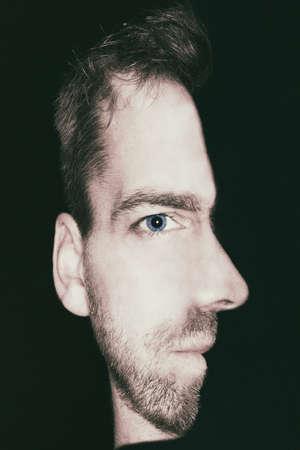 Foto de man with combined view of front and side face - Imagen libre de derechos