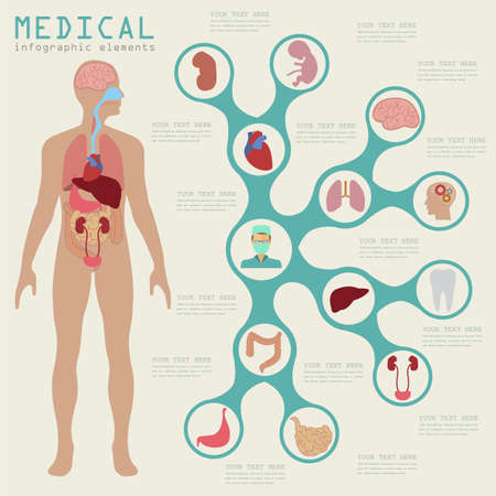 Photo pour Medical and healthcare infographic, elements for creating infographics. Vector illustration - image libre de droit