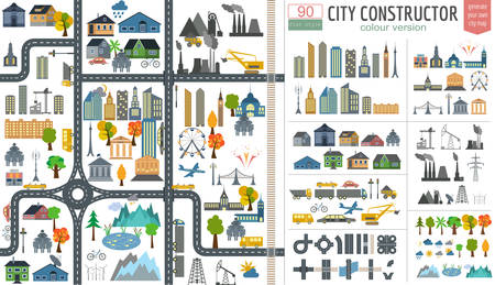 Illustration pour City map generator.  - image libre de droit