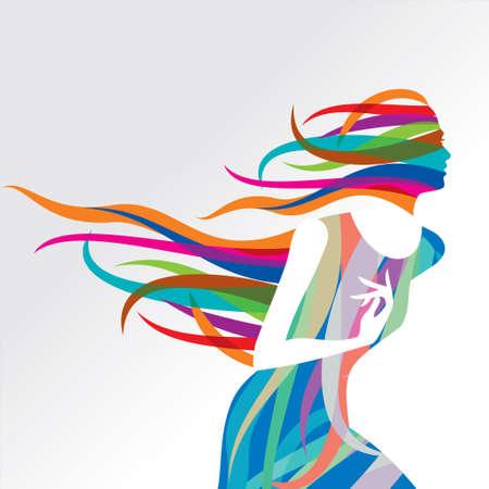 Ilustración de Beautiful fashion women with abstract elements - Illustration - Imagen libre de derechos