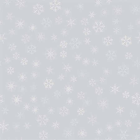 Illustration pour Abstract pattern of snowflakes over gray illustration. - image libre de droit