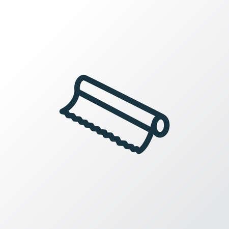 Illustration pour Tin foil icon line symbol. Premium quality isolated baking paper element in trendy style. - image libre de droit
