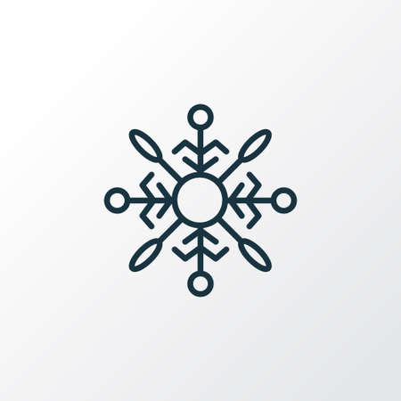 Illustration pour Snowflake icon line symbol. Premium quality isolated snow crystal element in trendy style. - image libre de droit