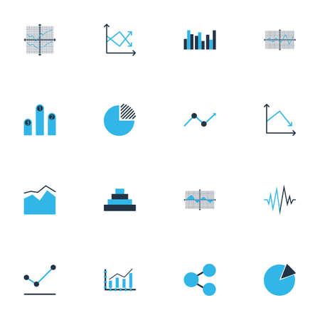Foto de Set of graphs, diagrams and statistics icons. Premium quality symbol collection. Icons can be used for web, app and UI design. - Imagen libre de derechos