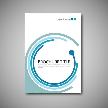 Illustration pour Cover brochure template. Vector format. - image libre de droit