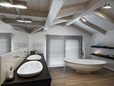 modern bathroom on garret