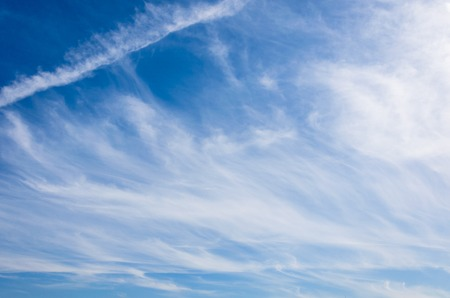Photo for Cirrostratus clouds on a blue sky on a sunny day - Royalty Free Image