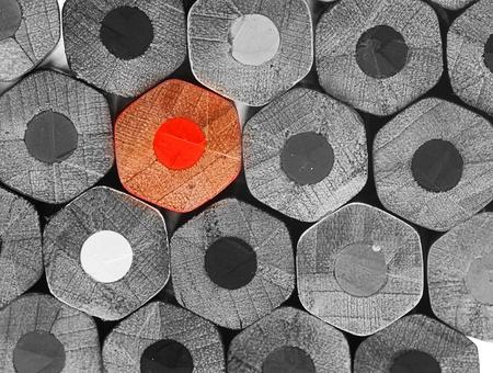 Photo pour crayons stack texture, black and white  - image libre de droit