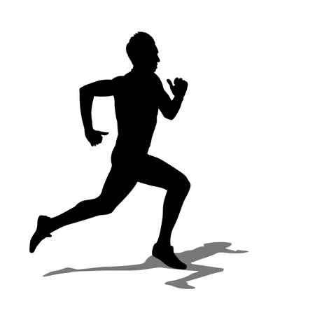 Ilustración de Running silhouettes illustration. - Imagen libre de derechos
