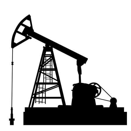 Illustration pour Oil pump jack. Oil industry equipment. Vector illustration. - image libre de droit