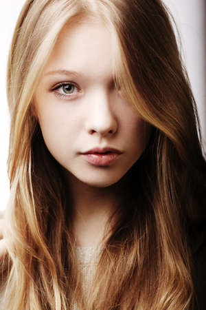Photo for beautiful blond teen girl portrait - Royalty Free Image