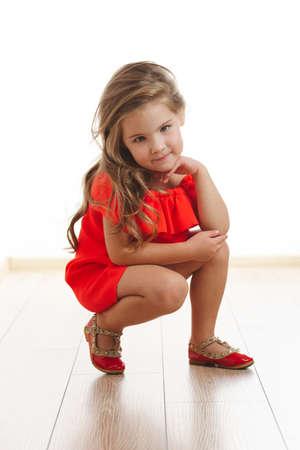Foto de young beautiful girl with long hair - Imagen libre de derechos