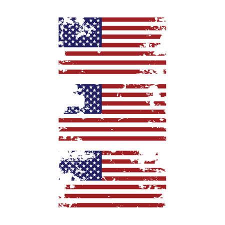 Ilustración de Grunge torn united states of america american flag icon design element for 4th of july independence day set - Imagen libre de derechos