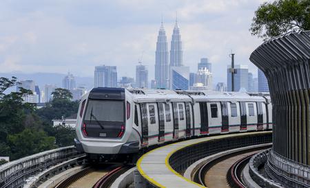 Photo pour Malaysia MRT (Mass Rapid Transit) train, a transportation for future generation. - image libre de droit