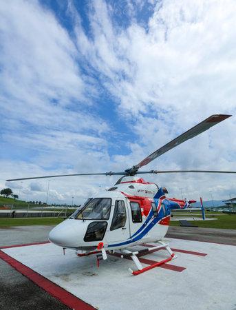 Foto de SEPANG, MALAYSIA - DECEMBER 03, 2018 : Russian Helicopter, Ansat is multi-purpose light helicopter. - Imagen libre de derechos