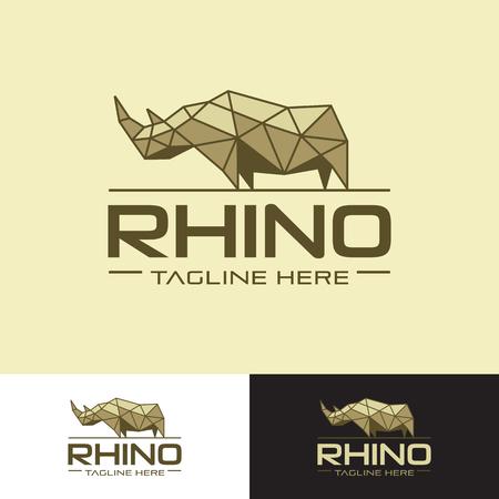 Illustration for Geometrical rhino logo - Royalty Free Image