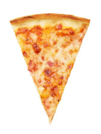 Photo pour slice of delicious italian pizza, isolated on white - image libre de droit