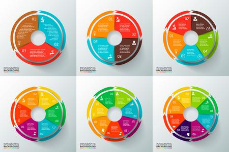 Illustration pour Template for cycle diagram, graph, presentation and round chart. - image libre de droit