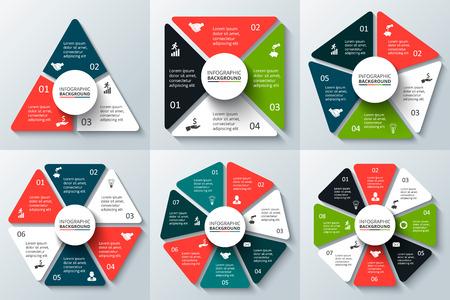 Illustration pour Template for cycle diagram, graph and chart. - image libre de droit