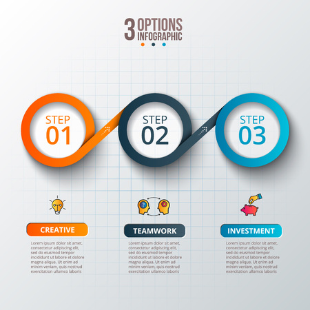 Illustration for Abstract infographics number options template. - Royalty Free Image