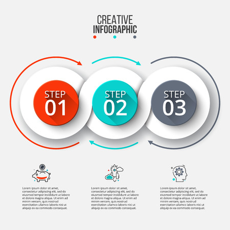 Ilustración de Abstract infographics number options template. - Imagen libre de derechos