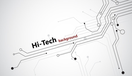 Illustration pour Hi tech background with black semiconductor tracks. EPS10 vector. - image libre de droit