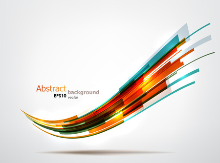 Dynamic colorful wave. EPS10 vector abstract background.