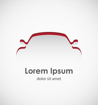Photo pour Cut paper forms a sport car silhouette.  - image libre de droit