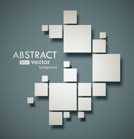 Ilustración de Abstract squares background with realistic shadows. EPS10 vector image. - Imagen libre de derechos
