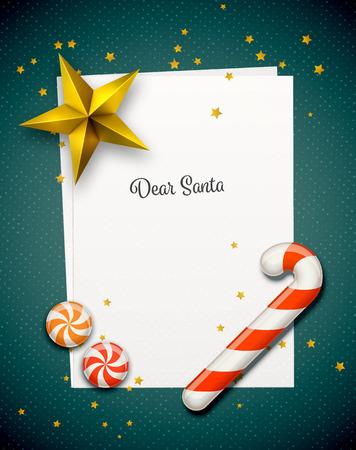 Illustration pour Santa Claus Letter - image libre de droit