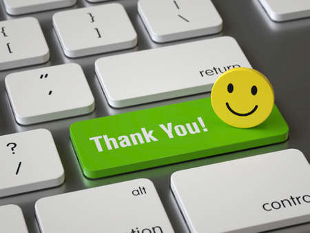 Foto für Thank You key on the keyboard - Lizenzfreies Bild