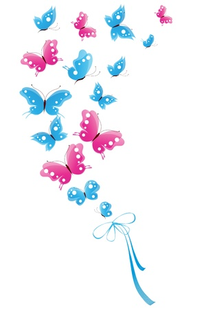 Illustration pour butterfly, butterflies, vector - image libre de droit
