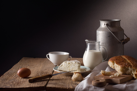 Photo for still life with dairy products - Royalty Free Image