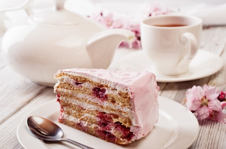 Photo for Pink cake - Royalty Free Image