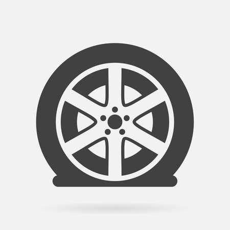 Illustration pour Flat tire icon - image libre de droit